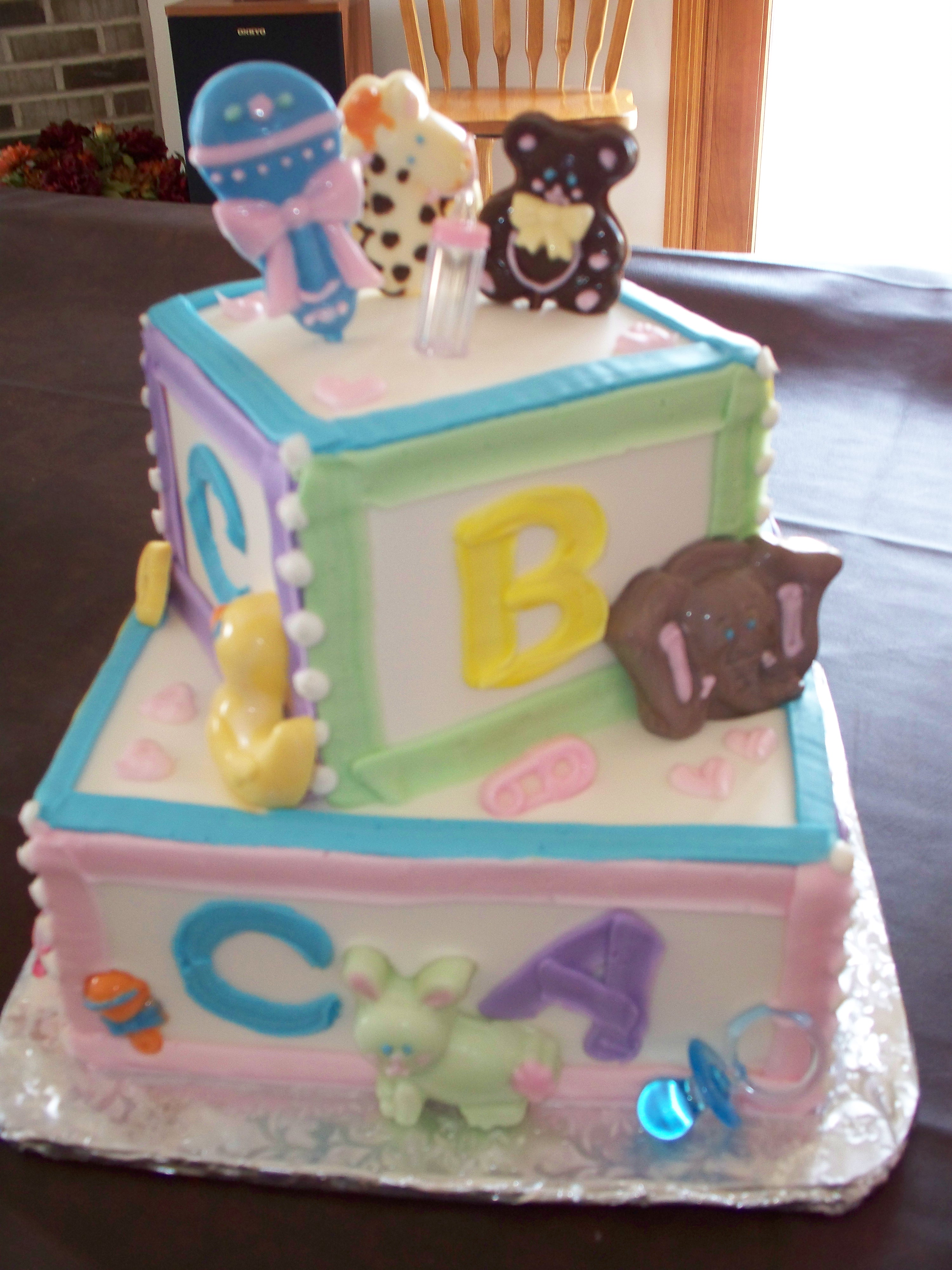 Cakes by dea for Alphabet blocks cake decoration